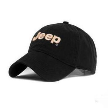 NOV9O2 JEEP Women Men Embroidery Leisure Sport Sunhat Baseball Cap Hat