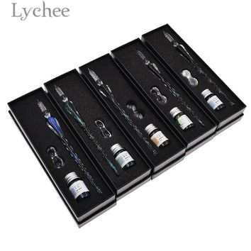 Lychee Starry Sky Dip Pen High Quality Transparent Dip Pen With Ink Arts Crafts Tools Gifts For Students