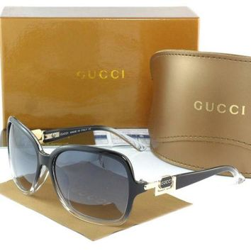 Gucci Stylish Women Men Casual Sun Shades Eyeglasses Glasses Black Grey Frame I
