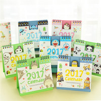 cute kawaii cartoon desktop office organizer the agenda schedule planner table desk calendar 2017 accessories supplies