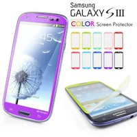 Galaxy S3 Screen Protector, Caseology [HD Clarity] Samsung Galaxy S3 Screen Protector [2-Pack] [Purple] [3-Month Warranty] Color Film [Crystal Clear] Front Screen Protection Galaxy S3 Screen Protector (for Samsung Galaxy S3 Verizon, AT&T Sprint, T-mobile,