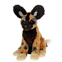 "10"" Stuffed Wild Dog Plush Animal African Safari Collection"