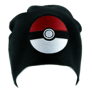Pokeball Pokemon Go Beanie Alternative Style Clothing Knit Cap Gotta Catch Em All