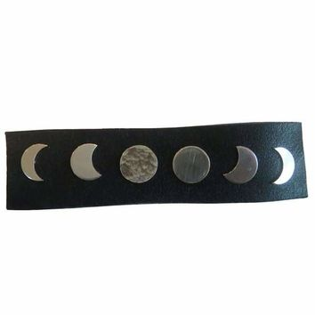 Sterling Silver Moon Phase Stud Earrings