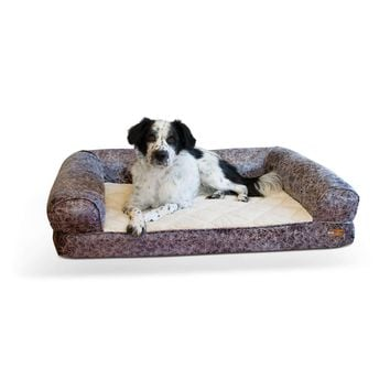 "K&H Pet Products Bomber Memory Dog Sofa Large Gray 30"" x 41"" x 9"""