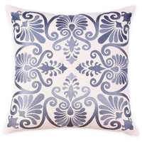 Lana 20x20 Embroidered Pillow, Gray, Decorative Pillows