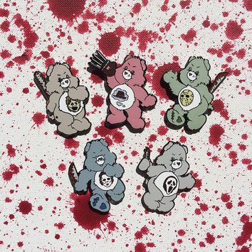 Scare Bear set // Enamel Pin // Horror Pin // Care Bear