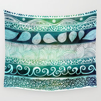 Dreamy Tribal Part VIII Wall Tapestry by Pom Graphic Design