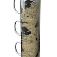 Game of Thrones Mug Set of 3 Westeros Map - Game of Thrones - Pop Culture - Home & Gifts