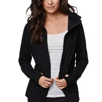 Fox Mix Up Zip Hoodie - Womens Hoodie - Black