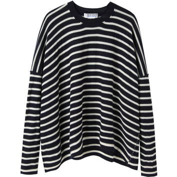 Comme Comme Striped Knit Pullover