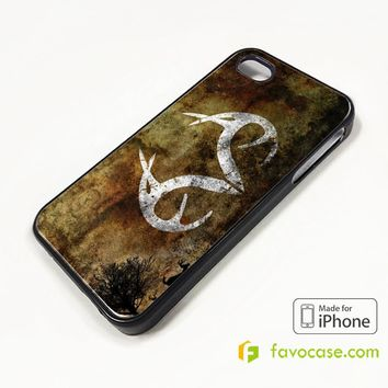 REALTREE DEER CAMO iPhone 4/4S 5/5S/SE 5C 6/6S 7 8 Plus X Case Cover