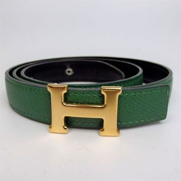 Gotopfashion Authentic HERMES Mini stance stance H buckle round Z stamp Belt Leather[Used]