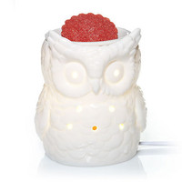 Everyday Ceramic White Owl : Electric Wax Melts Warmer : Yankee Candle