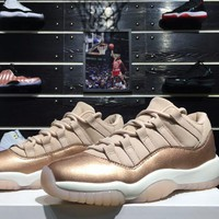 "Nike Air Jordan 11 Low ""Rose Gold"" Basketball Shoes Sneaker"