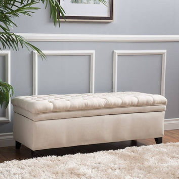 Hastings Tufted Fabric Storage Ottoman Bench by Christopher Knight Home | Overstock.com Shopping - The Best Deals on Ottomans