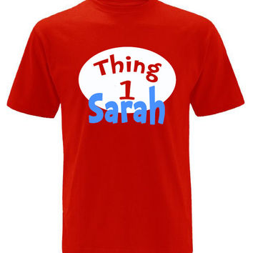 Thing 1 Thing 2 Personalized T-shirt with Name Dr Seuss Inspired