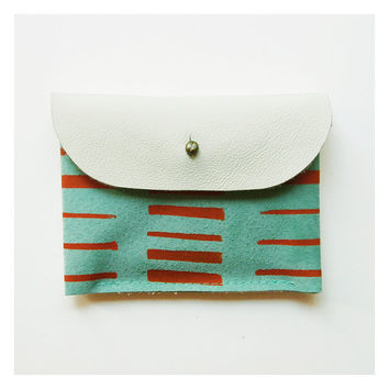 CARDHOLDER 02 / orange ivory mint