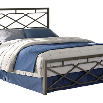 Alpine Lane Pewter Queen Bed - Chests Metal
