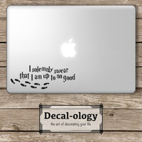I Solemnly Swear that I am up to No Good Harry Potter - Apple Macbook Laptop Vinyl Sticker Decal