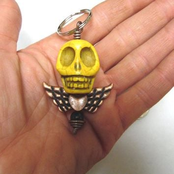 Day of the Dead Keychain Sugar Skull Keyring Pendant Big Daddy