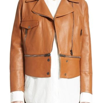 Belstaff Avenhan Double Face Leather Jacket | Nordstrom
