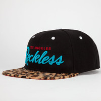 Young & Reckless Cheetah Reckless Mens Snapback Hat Black Combo One Size For Men 21530914901