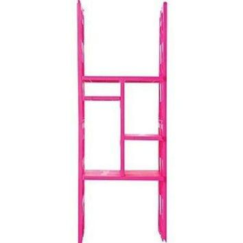LockerBones - The Ultimate Locker Organizer - Customizable Pink Shelves