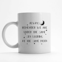 Long distance mug gift for him or her (M104)