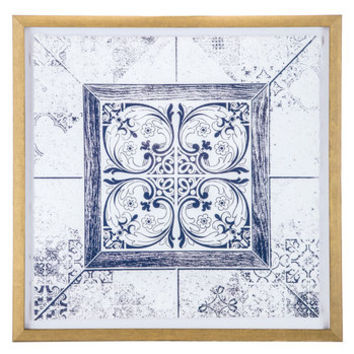 Blue & White Flourish Medallion Framed Wall Decor | Hobby Lobby | 1474329