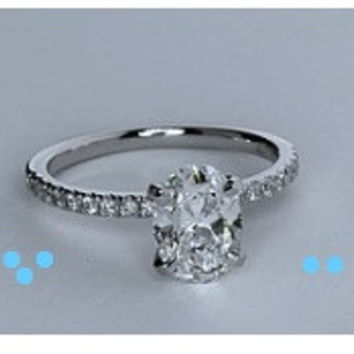 1.24ct H-VS2 Oval Diamond Engagement Ring Fine Jewelry 900,000 GIA certified diamonds JEWELFORME BLUE