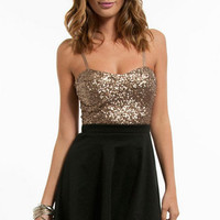 Nightlife Sequined Bustier $33