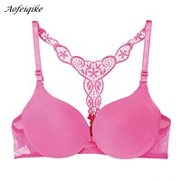 Sexy Front Closure Smooth Bras Charming Lace Racer Back Racerback Push Up Bras New Fashion and best selling