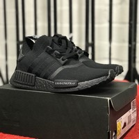 Adidas Nmd R1 Primeknit Japan Black brand new 100% genuine uk4 with receipt