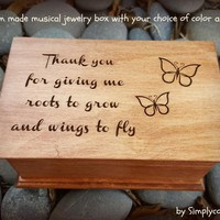 Mom, mother of groom, mother of bride, music box, custom made music box, thank you, personalized music box, keepsake, weddings, for mom