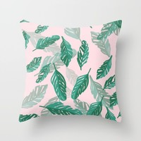 Tropical Throw Pillow by sm0w