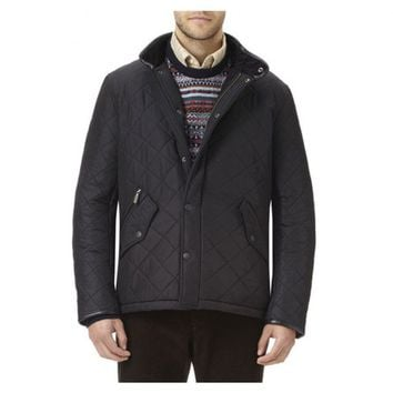 Powell Quilted Jacket in Black by Barbour