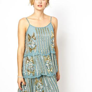 Frock and Frill   Frock and Frill Embellished Cami Shift Dress at ASOS