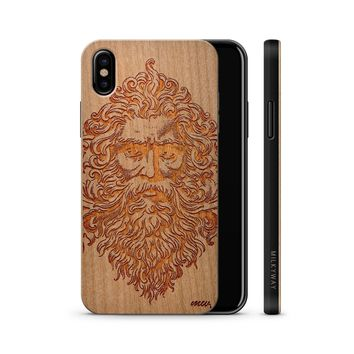 Wooden Phone Case - For iPhone and Samsung   - Zeus