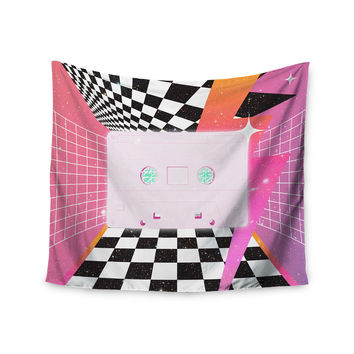 "Danny Ivan ""K7"" Pink Casette Wall Tapestry"