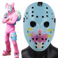 Battle Royale Mask Cosplay Bunny Rabbit Raider Fortress Night Half Face  Adult ABS Animal Helmet Halloween Party Props Costumes