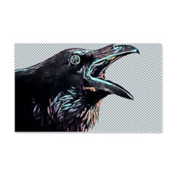 Black Crow Abstract Art Wall Decal> Animals Widlife nature Art> Elizabeth Original Art Designs