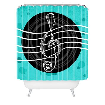Lisa Argyropoulos Solo Aquatic Blues Shower Curtain