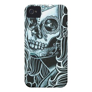 Bella Morte Day of the Dead Sugar Skull Girl iPhone 4 Cases from Zazzle.com