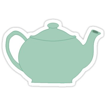 'Jim and Pam Teapot' Sticker by ibotero