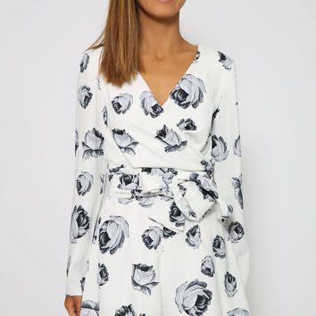 The Fifth Label - Just For Now Playsuit - Light Rose Print