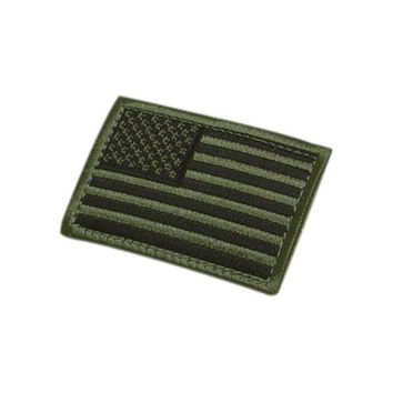 US Flag Patch Color- OD Green (6 Pack)