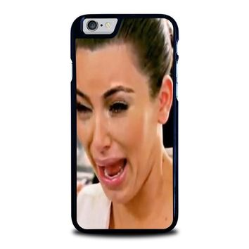 kim kardashian ugly crying face iphone 6 6s case cover  number 1