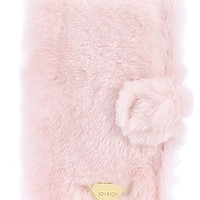 iPHONE 6 / FLIP CASE CANDY FUR / LIGHT PINK