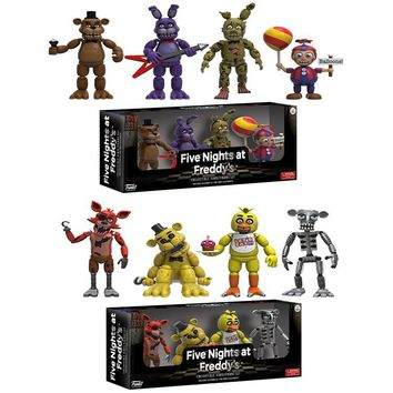 new 2inch Five Night At  5 cm Foxy Freddy Vinyl Figures Can't move Action Figures FiveNight Anime Figures kids toys